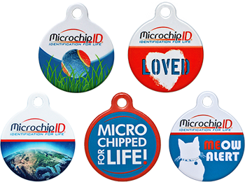 Microchip ID pet collar tags